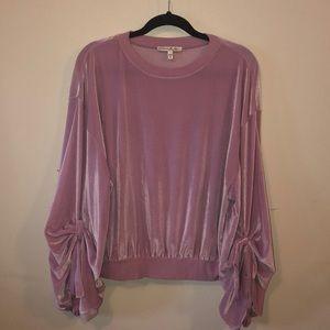 Express Lilac Velour Sweatshirt